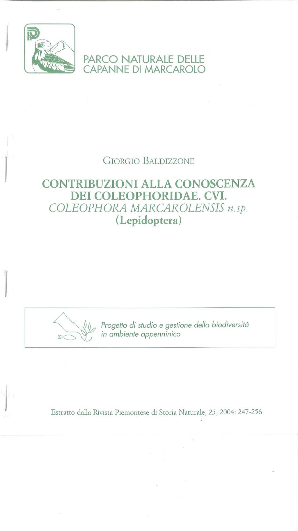Pubblicazione Coleofora marcarolensis