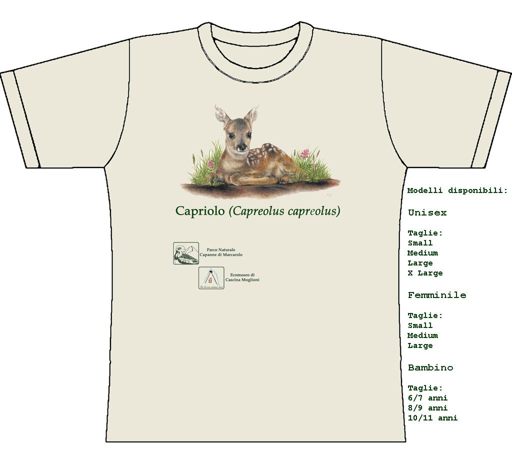 maglietta capriolo